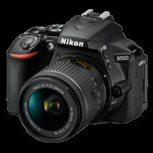 Cámara Nikon D5600 24.2 MGPX con Lente 18-55 mm WiFi