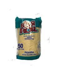 "BOLSAS PLASTICAS BOLSI ROLL PEQUEÑA 18 x 19 x 1"" 6 Litros -PAQ 50 UNIDADES - PAQUETE"