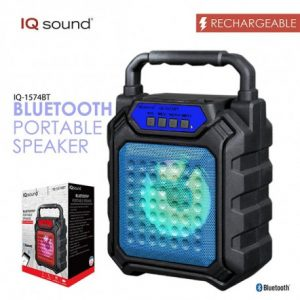 Bocina Bluetooth Karaoke IQ Sound Color Negro