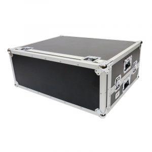 Case para consola YAMAHA QL5, color negro y cromo con interior de esponja
