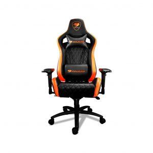 Silla Gaming Armor S color Naranja con Negro marca Cougar
