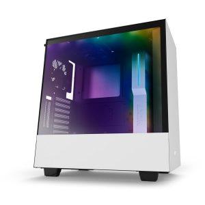 Case Gaming NZXT H500i Vidrio Templado CAM RGB Blanco Matte ATX Sin Fuente
