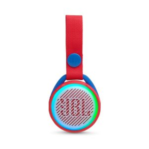 Bocina Bluetooth JBL JR POP Bluetooth 3W Color Roja Luces LED colores