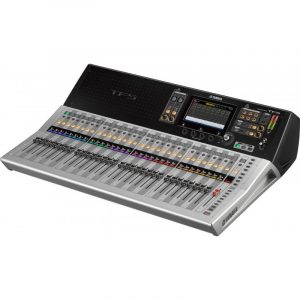 Consola profesional digital de 32 canales  YAMAHA TF5 color gris con negro
