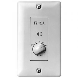 Control de volumen para pared TOA AT-063P color blanco
