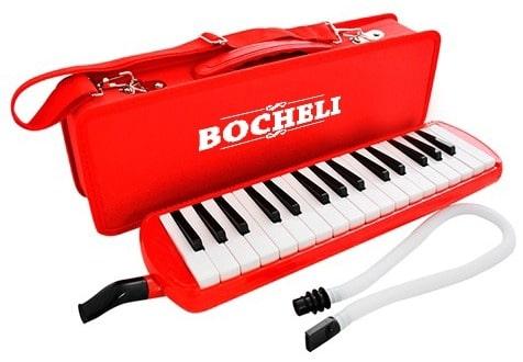 Melódica Bocheli de 32 Notas Color Rojo
