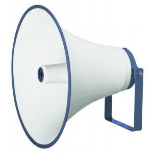 Bocina tipo trompeta TOA TH-650 color hueso con azul