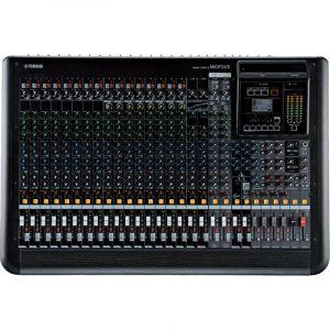 Consola profesional analoga de 24 canales con efectos YAMAHA MGP24X color negro con gris