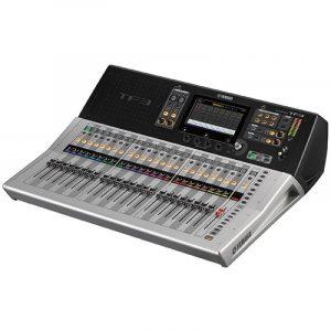 Consola profesional digital de 24 canales YAMAHA TF3 color gris con negro