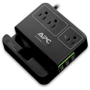 Regulador de Voltaje APC 120V con Cargadores USB