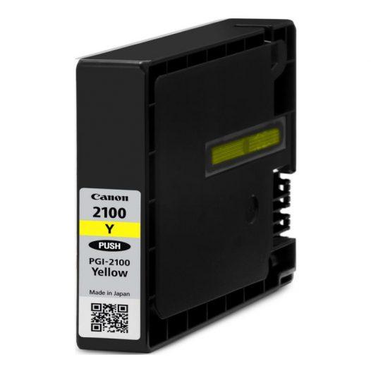 Cartucho de Tinta Canon PGI-2100 Y LAM Color Amarillo Para MAXYFI
