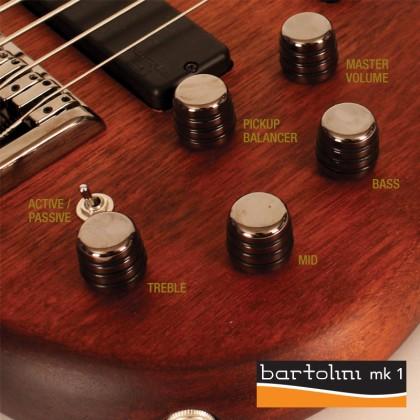 Bajo Eléctrico de 5 Cuerdas B5 Plus MH marca Cort color Caoba de Poro Abierto con Funda