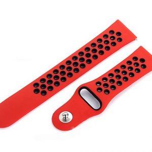Pulsera de Silicón para Reloj Amazfit Bip Color Rojo con Negro