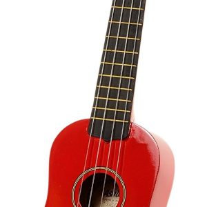 "Ukulele Soprano 21"" Color Rojo con Funda Marca Ashton"