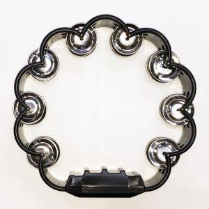 Pandereta Bocheli Diseño de Flor Color Negro