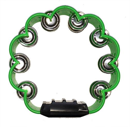 Pandereta Bocheli Diseño de Flor Color Verde