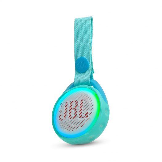 Bocina Bluetooth JBL JR POP Bluetooth 3W Color Celeste Luces LED colores