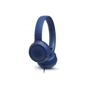 Audífonos JBL Tune 500 con Micrófono Cableado Color Azul