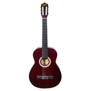 Guitarra Clásica Marca De La Vega con Funda Color Vino Tinto