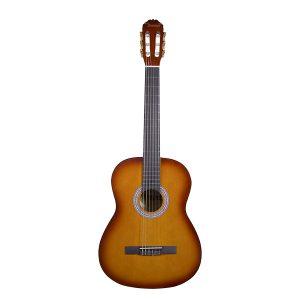 Guitarra Clásica Morena Marca Aranjuez con Funda Color Amarillo con Rojo
