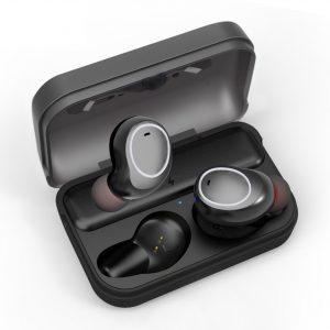 Audífonos Bluetooth True Wireless T3 con Estuche de Carga marca Awei color Gris