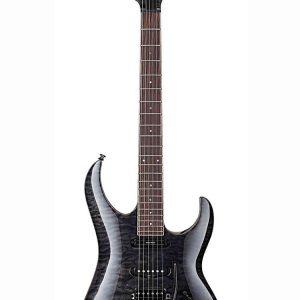 Guitarra Eléctrica Cort Aereo Custom Color Gris Transparente con Funda
