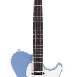 Guitarra Eléctrica Cort Clásica TC Color Azul Metálico con Funda