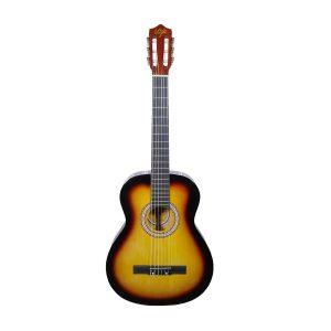 Guitarra Clásica Marca De La Vega con Funda Color Amarillo con Negro