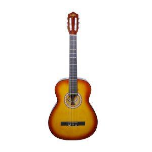 Guitarra Clásica Marca De La Vega con Funda Color Amarillo con Rojo