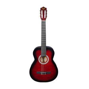 Guitarra Clásica Marca De La Vega con Funda Color Rojo con Negro