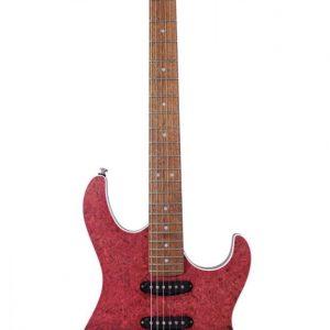 Guitarra Eléctrica Cort de Poro Abierto G-LTD18 Color Rojo Degradado con Funda