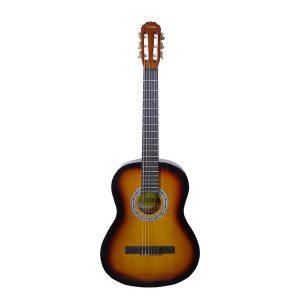 Guitarra Clásica Morena Marca Aranjuez con Funda Color Amarillo con Negro