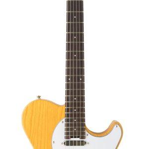 Guitarra Eléctrica Cort Clásica TC Color Amarillo con Funda