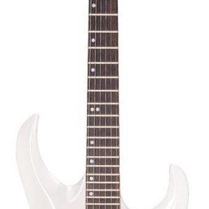 Guitarra Eléctrica Cort X2 Color Blanco con Funda