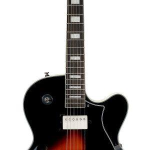 Guitarra Eléctrica Cort Yorktown Cuerpo vacío Color tabaco con Funda