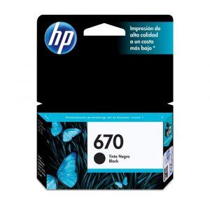 Cartucho HP 670 Color Negro