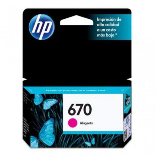 Cartucho HP 670 Color Magenta