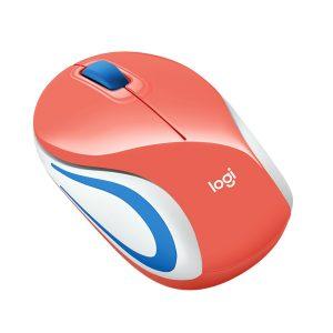 Mini Mouse Inalámbrico Logitech M187 Coral
