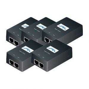 Inyector de corriente marca Ubiquiti Networks POE-24-24W CA 120/230 V - 24 vatios (Paquete de 5 unidades)
