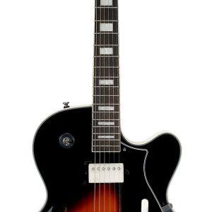 Guitarra Eléctrica Cort Yorktown-BV Cuerpo vacío Color tabaco con Funda
