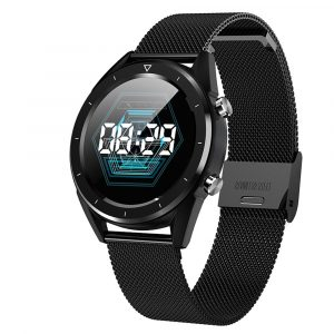 Reloj Inteligente NO.1 DT28 de Aleación de Zinc con Pulsera Metálica color Negro