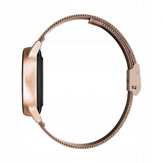 Reloj Inteligente NO.1 DT88 con Pulsera Metalica color Dorado