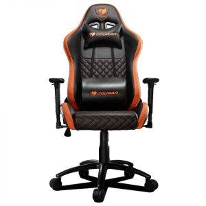 Silla Gaming Armor PRO color Negro con Naranja marca Cougar
