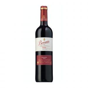 Botella de Vino Tinto Beronia Crianza – Tempranillo / Garnacha / Mazuelo – España – Rioja