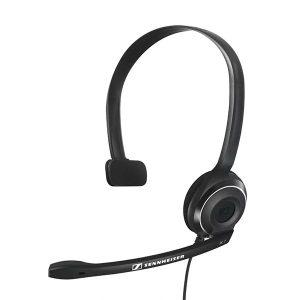 Audifono Monoaural para Call Center marca Sennheiser con USB color Negro
