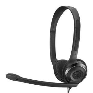 Audifonos para Call Center marca Sennheiser con USB color Negro