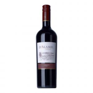 Botella de Vino Tinto D'Alamel  - Carmenere - Chile - Valle Central
